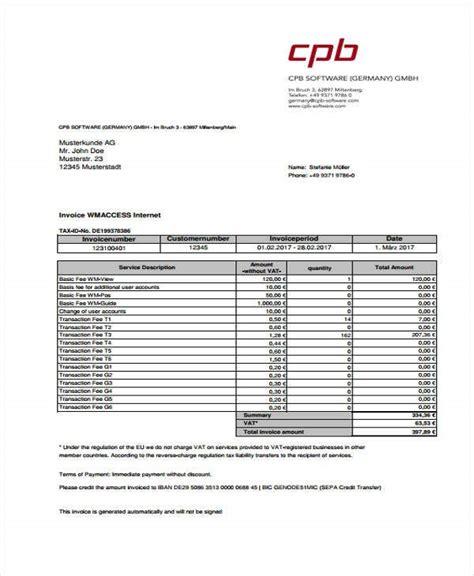 vat invoice templates word   premium
