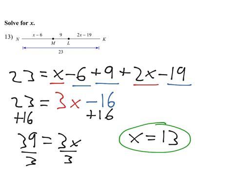 Segment Addition Postulate And Solving For X  Math, Geometry, Line Segments Showme