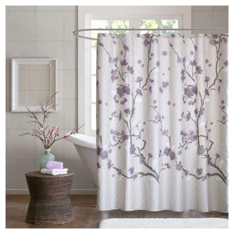purple shower curtains cotton printed shower curtains target