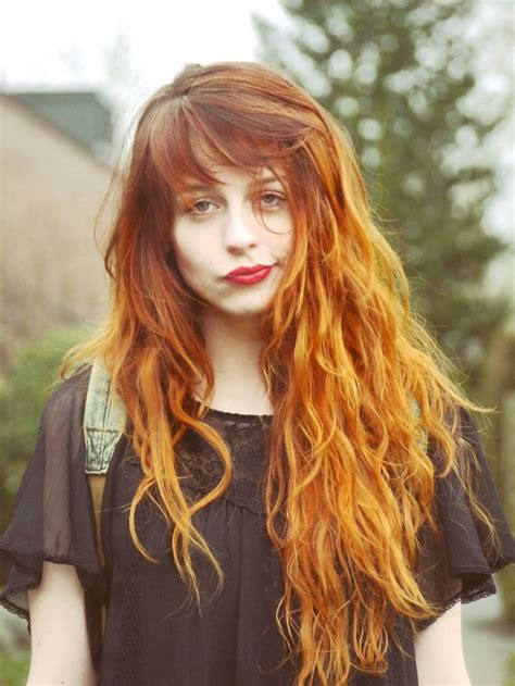 25 Unique Red Hair Bangs Ideas On Pinterest Red Hair