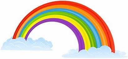 Rainbow Clip Clouds Clipart Transparent Rainbows Yopriceville