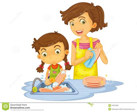 wash the dishes clipart clipart washing dish pencil and in color