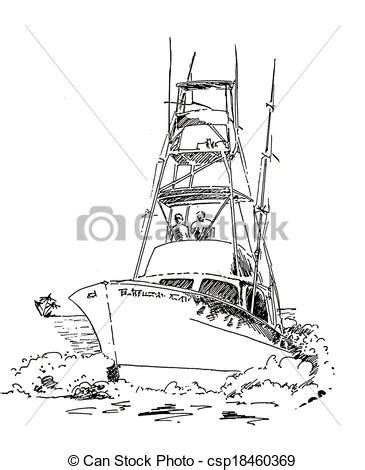 How To Draw A Keelboat by Drawn Sailing Boat Fishing Boat Pencil And In Color