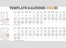 Template Kalender 2016 03 Editable Vector Corel CDR Ai PSD
