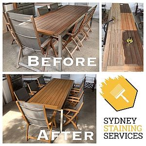 sydney staining services domestic teak outdoor furniture