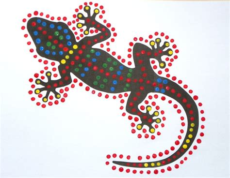 dot painting templates gecko dot paintings