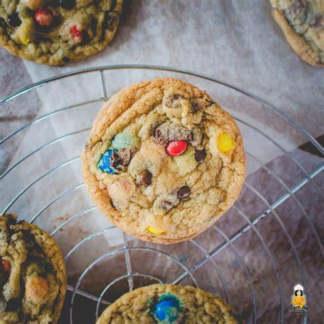 rainbow cookies cookies mit mms wie bei subway backinade