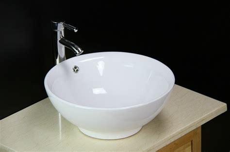 Basin Sink Bowl Countertop Ceramic Bathroom Vessel
