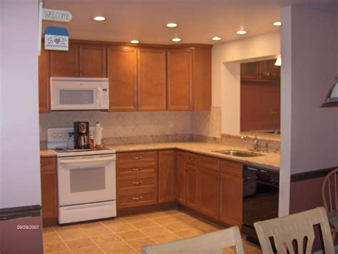 recessed lighting top  kitchen country living room
