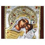 Theotokos Glykophilousa 24k Swarovski Crystals Icons Orthodox