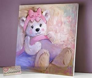 Tableau Chambre Fille : tableau ourson impressionniste 63 vente tableau ourson pour enfants decore ta chambre ~ Teatrodelosmanantiales.com Idées de Décoration