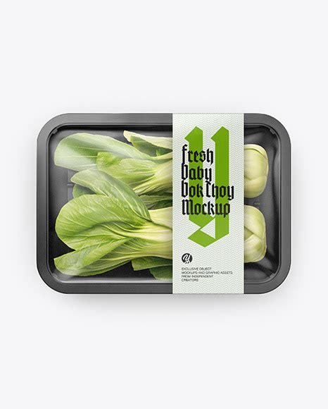 Very simple edit with smart layers. Plastic Tray With Corn Mockup - Tray W Fish Mockup In Tray ...