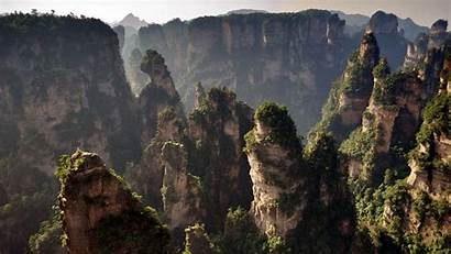 Zhangjiajie Forest China National Park Mountains Earth