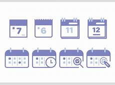Calendar Icon Set Download Free Vector Art, Stock