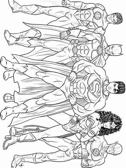 Coloring Pages Superhero Dc Justice League Printable