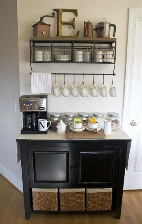 Curious as to what an elegant design for home coffee. 50 DIY Coffee Bar Ideas inside the Home for Coffee Enthusiast