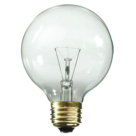 globe light bulbs satco s3887 25 watt g18 globe clear bulb