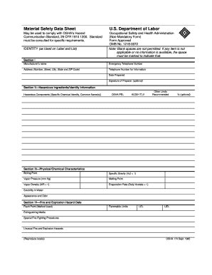 Osha Sds Template by Osha Form 174 Fill Printable Fillable Blank