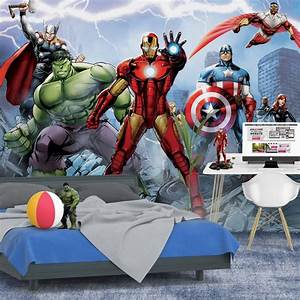 entrancing 50 marvel wall mural design ideas of marvel With toile tendue murale deco