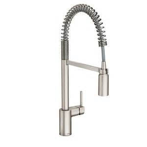 kitchen faucet moen shop moen align spot resist stainless steel 1 handle pre rinse kitchen faucet at lowes com
