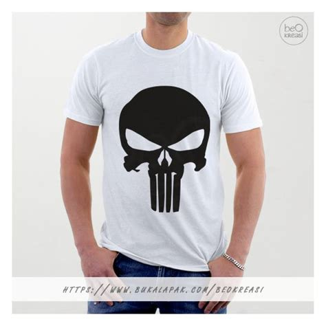 Kaos Punisher 5 jual beli kaos t shirt punisher putih logo