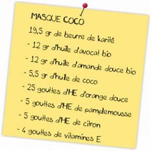 Recette Masque Cheveux Secs : recette naturelle masque coco pour cheveux secs et ternes voir ~ Nature-et-papiers.com Idées de Décoration