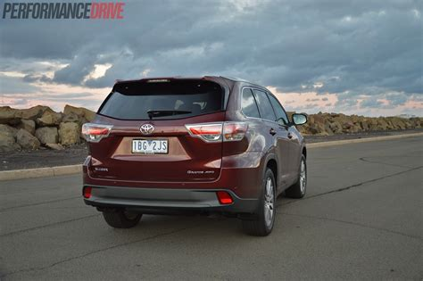 There's plenty of headroom, with enough shoulder room for three adults. 2014 Toyota Kluger Grande review (video)   PerformanceDrive