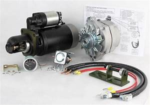 New 24 To 12 Volt Alternator And Starter Kit John Deere