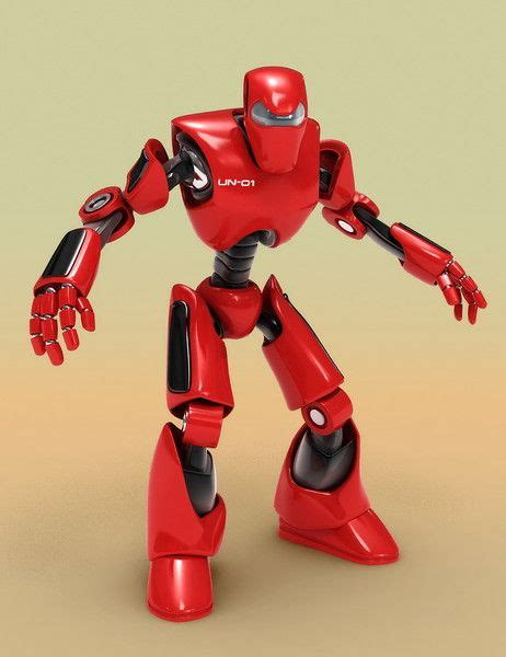 menacing red robot  longer    cool