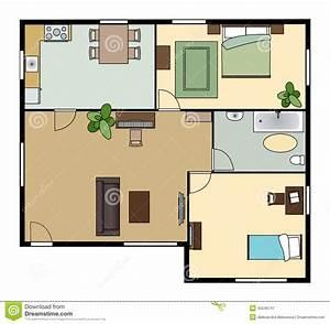 plan plat avec des meubles vue d39en haut illustration de With conception de maison 3d 16 plan plat avec des meubles vue den haut illustration de