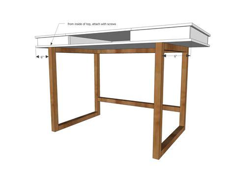 modern  desk base  build   study desk plans