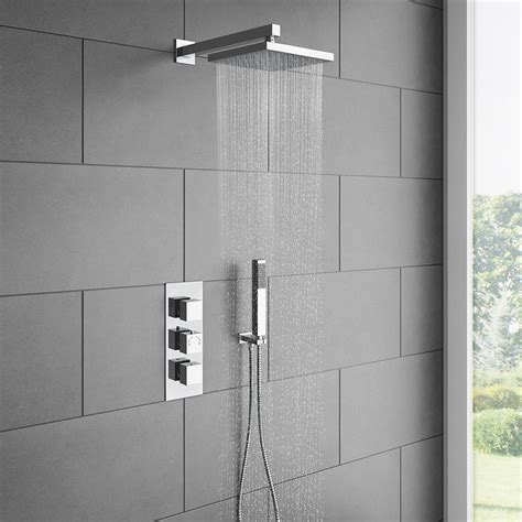 Milan Triple Thermostatic Shower Package with Head