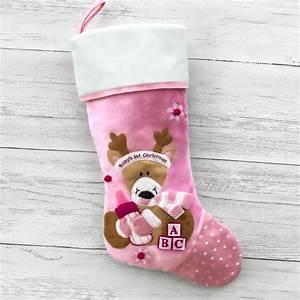 Soft, Cozy, Adorable, Baby, Girl, U0026, 39, S, First, Christmas, Stocking