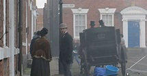 On set in Chester with Netflix Sherlock Holmes cast and ...