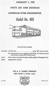 American Flyer Locomotive 405 Parts List  U0026 Diagram