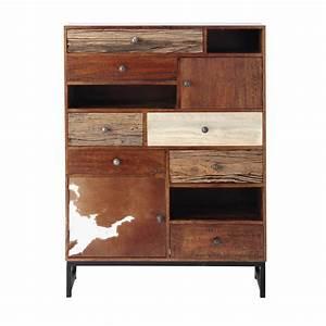 Cabinet Maison Du Monde : mango wood cabinet w 100cm montana maisons du monde ~ Nature-et-papiers.com Idées de Décoration