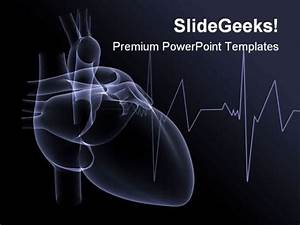 heart x ray medical powerpoint template 1110 powerpoint With cardiovascular powerpoint template free