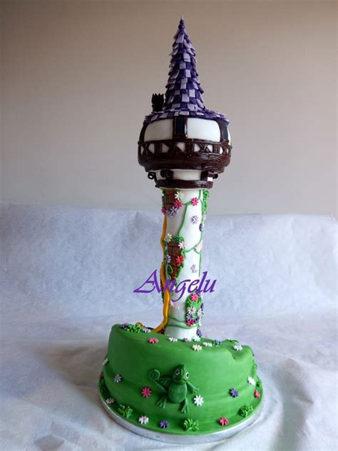 raiponce pate a sucre g 226 teau tour de raiponce tangled tower cake ma patisserie contact isilda neuf fr
