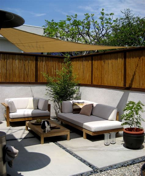 bamboo fence patio asian landscape los angeles by