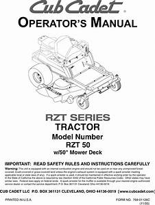 Cub Cadet Rzt 50 Operators Manual Manualslib Makes It Easy