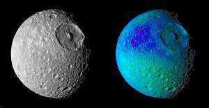 Space Images | Mimas Showing False Colors #1