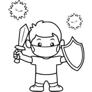 coronavirus fight coloring pages