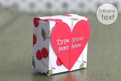gift box templates   print