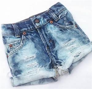Custom Distressed Denim u0026quot;Shortiesu0026quot; Girls Cutoff Jean Shorts - Baby - Toddler - Kids Destroyed ...