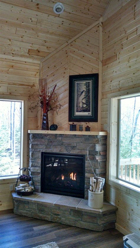 great american fireplace installed  kozy heat corner