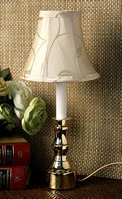 electric candle lamp gold base white stem buy