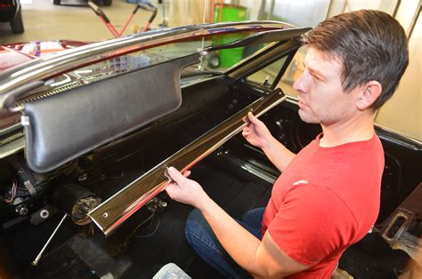 ford mustang convertible project windshield install