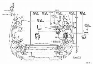 Toyota Rav 4 Connector  Wiring Harness  Engine Wire
