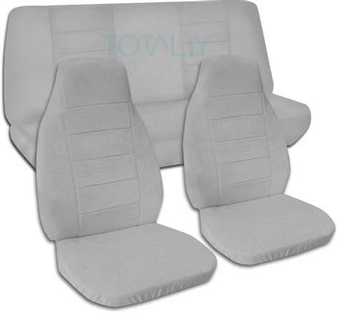 jeep wrangler light grey jeep wrangler yj tj jk 1987 2018 solid color seat covers