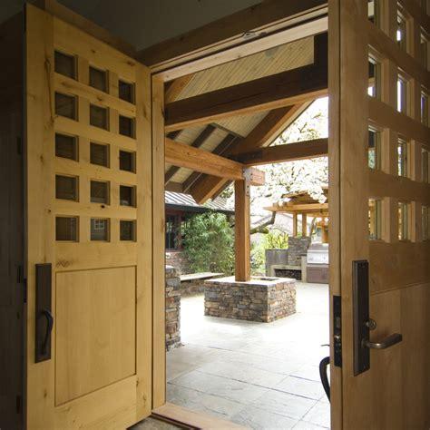 house  natural wood  stone interior  exterior digsdigs